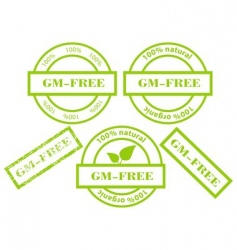 gmfree green stamps vector image