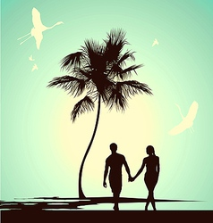 married couple walking vector image vector image