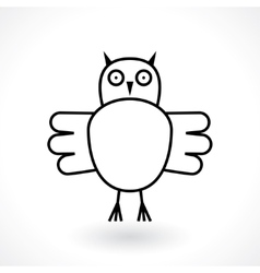 owl abstract symbol vector image