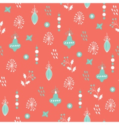 christmas seamless pattern pink blue vector image vector image