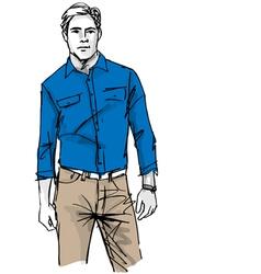 Fashion man vector