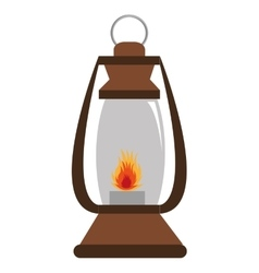 Lantern with flame graphic vector
