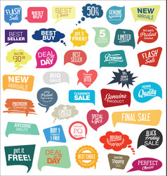 modern sale sticker and tag colorful collection vector image vector image