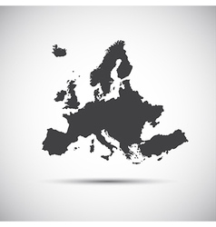 Simple map of European Union vector image vector image