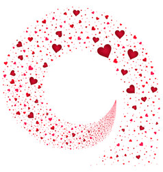 stream red hearts vector image
