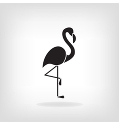 Stylized silhouette of a Flamingo vector image