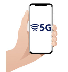 5g worlds fastest mobile internet vector image