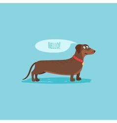 Cartoon happy dog card template vector image