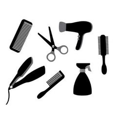 devices for hair care vector image vector image