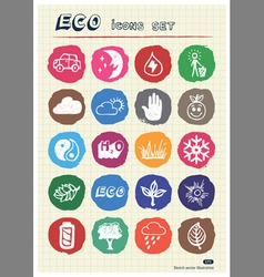 Ecology and environment web icons set vector image vector image