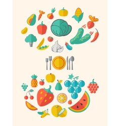 Healthy Food Infographic Template vector image