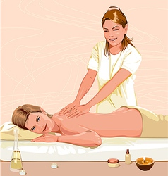 Massage vector image vector image