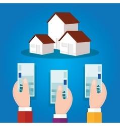 Auction bidding home house property concept sale vector