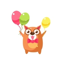 Cat Party Animal Icon vector image vector image