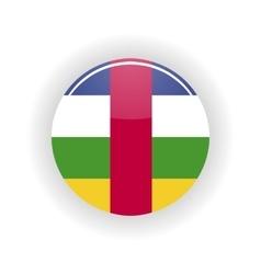 Central African Republic icon circle vector image