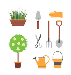 garden set with tools vector image