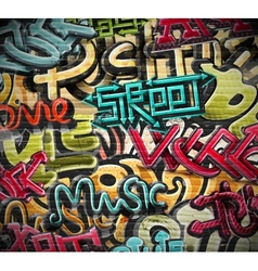 Graffiti grunge texture vector image vector image