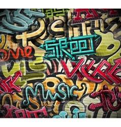 Graffiti grunge texture vector image