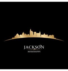 Jackson Mississippi city skyline silhouette vector image vector image