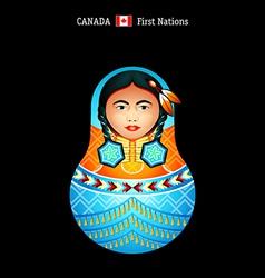 Matryoshka Canada vector image vector image