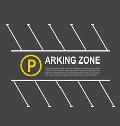 parking zone mockup vector image