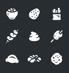 set of potato icons vector image vector image