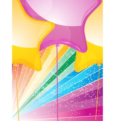 star shaped balloons and starburst vector image vector image