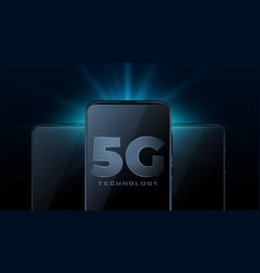 5g wireless internet technology with realistic vector