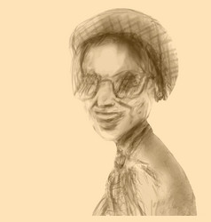 A beautiful smiling woman vector