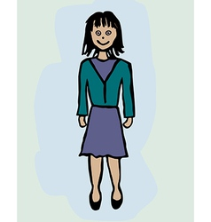 A businesswoman vector