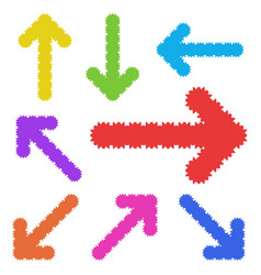 a set of unusual arrows of bright color simple vector image