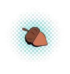 Acorn icon in comics style vector image