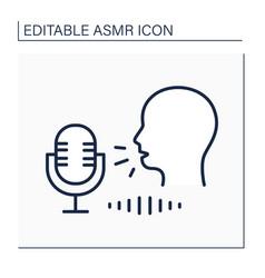 Asmr line icon vector