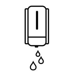 automatic liquid soap gel hand sanitizer machine vector image