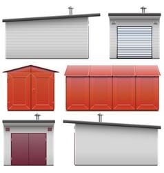 Automobile garage icons vector