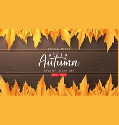autumn sale web banner vector image