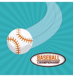 Baseball design sport icon Colorful vector image