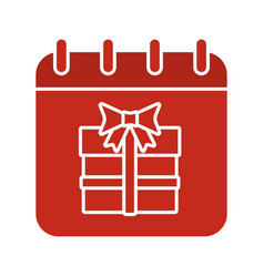 birthday date glyph color icon vector image