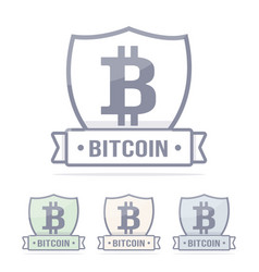 bitcoin logo cryptocurrency vector image
