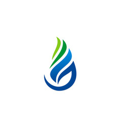 blue gas water drop logo vector image