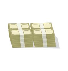 Bundles banknotes icon vector