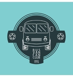 Bus van logo vector