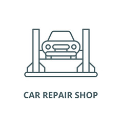 car repair shop line icon car repair shop vector image