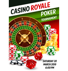 casino poker gambling game roulette dice chips vector image