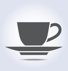 Coffee cup and plate icon vector