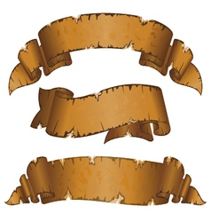 collection different dirty old ribbon with ragged vector image
