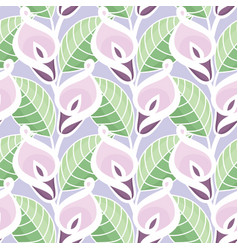 Colourful calla lilies pattern vector