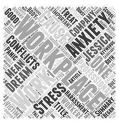 Conflicts in the workplace Word Cloud Concept vector image