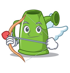 Cupid watering can character cartoon vector