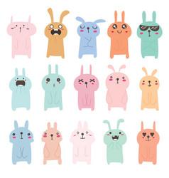 Cute bunny character design vector